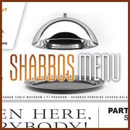 CCHF Shabbos Menu: Parshas Pinchas