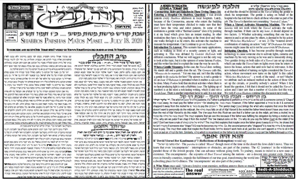 Torah Tavlin: Parshas Mattos-Massei 1
