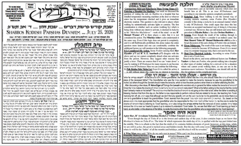 Torah Tavlin: Parshas Devarim 1