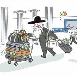 Outrage Over Antisemitic Cartoon Depicting Chareidi Bringing Coronavirus To Israel