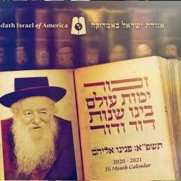 Agudath Israel is Delighted to Introduce The 5781/2020-2021 Calendar