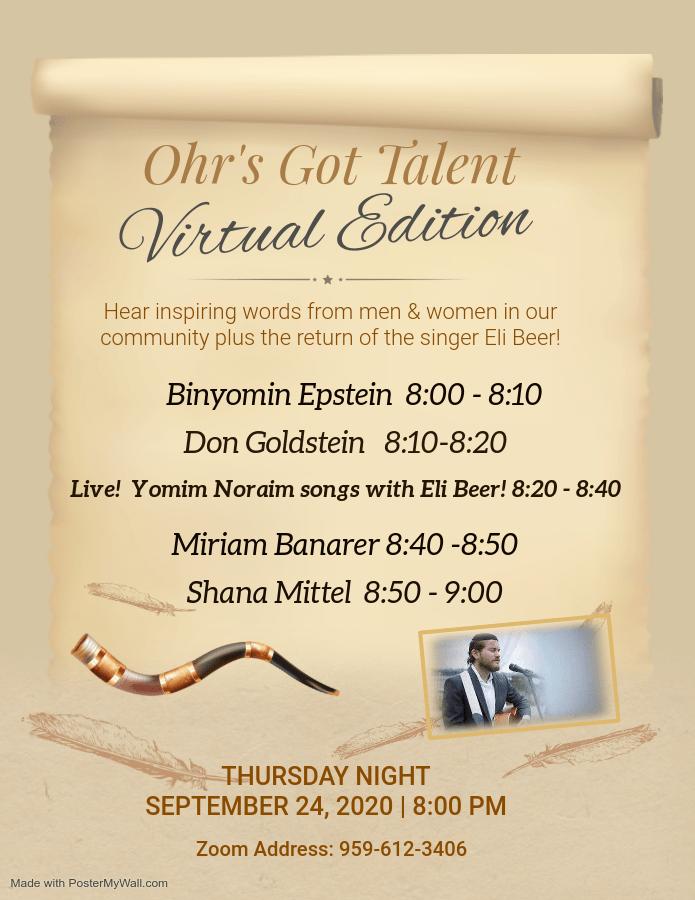 Ohr's Got Talent: Virtual Edition 1