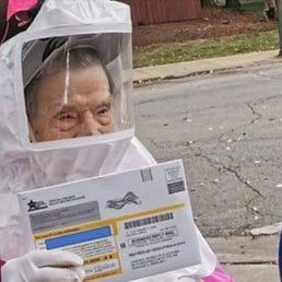 This 102-year-old Jewish Grandma Is Going Viral For Mailing Her Absentee Ballot In A Hazmat Suit