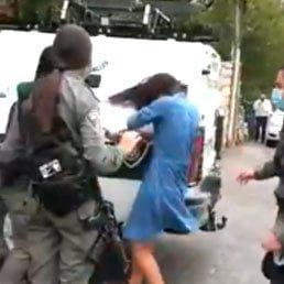 Jerusalem: Police Spray Tear Gas In Face Of Young Woman Not Wearing Mask