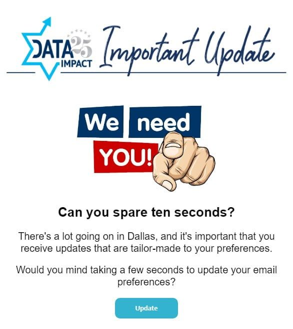 We Need You: An Important Update from DATA 1