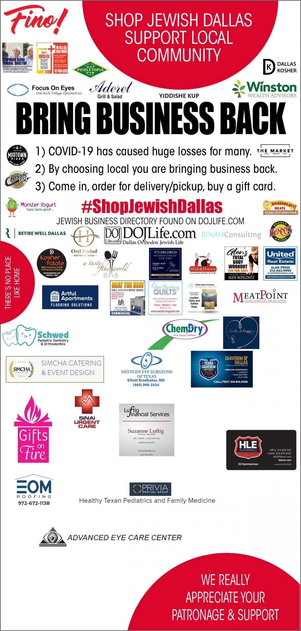 #ShopJewishDallas - Bring Business Back Initiative 1