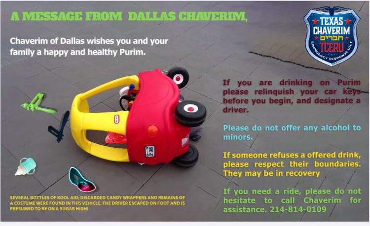 A Purim Message from Dallas Chaverim 1