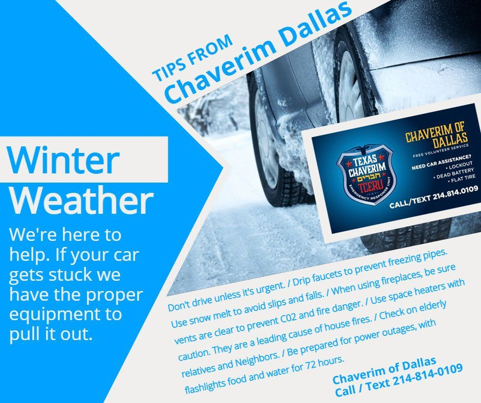 Winter Weather Tips from Chaverim of Dallas 1