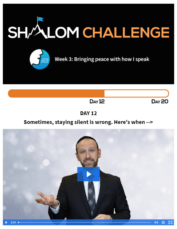 CCHF Shalom Challenge Day 12: Sometimes, Staying Silent is Wrong. Here's When... 1