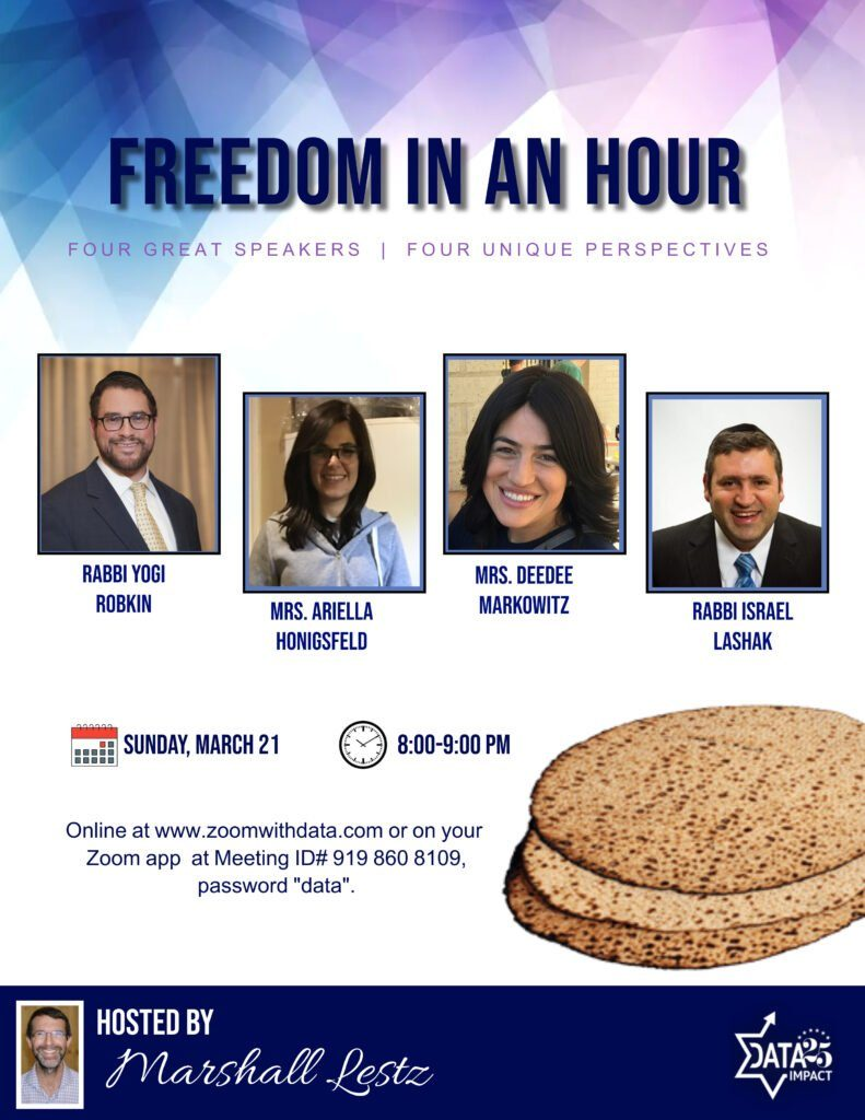 Freedom in an Hour: Four Great Speakers: Robkin, Honigsfeld, Markowitz & Lashak, with Host Marshall Lestz 1