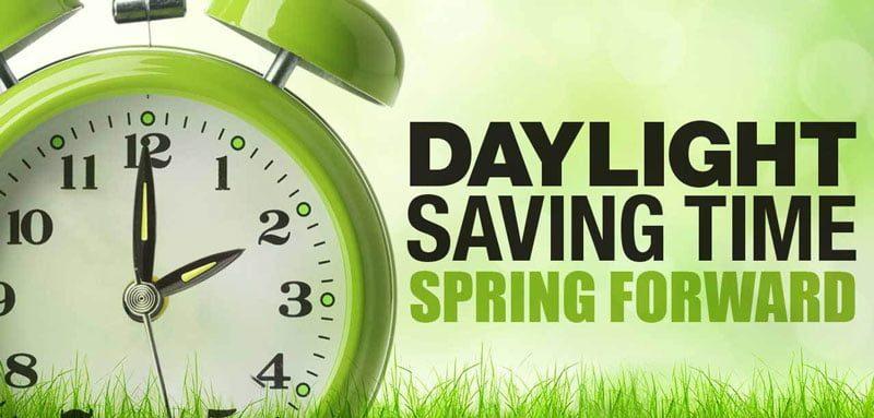 Daylight Savings Time: This Sunday, 2 AM, Spring Forward 1