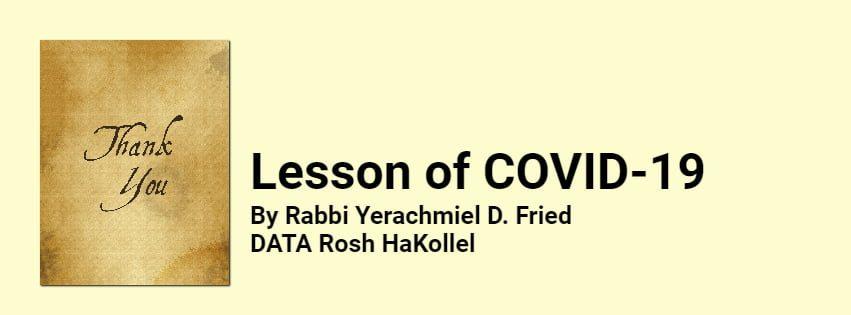 Lesson of COVID-19 1