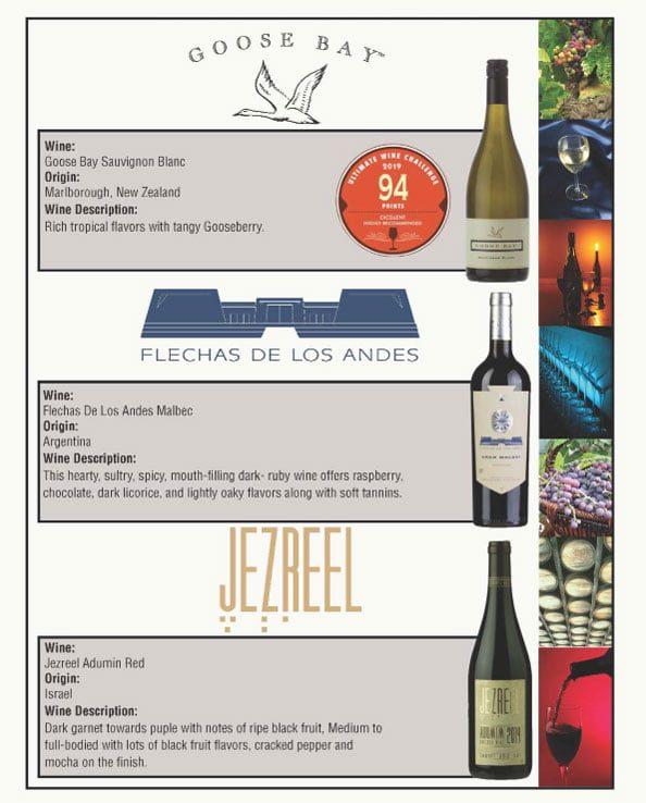 2021 Wine Sampler for Passover from Dallas Kosher 2