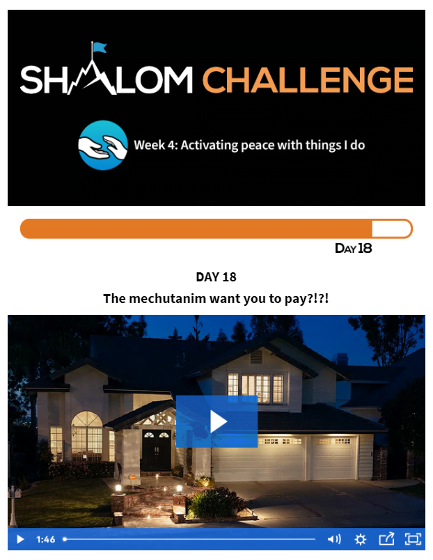 CCHF Shalom Challenge Day 18: The Mechutanim Want You to Pay?!?! 1
