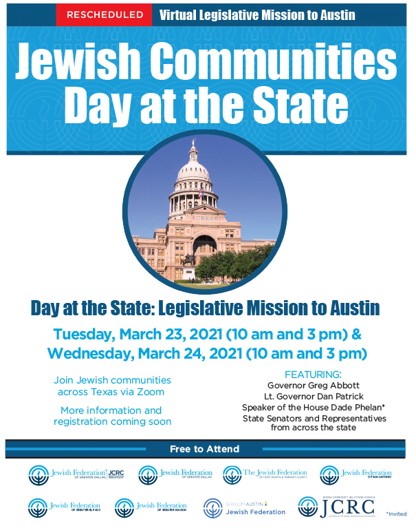 RESCHEDULED: Jewish Communities Virtual Day at the State 1