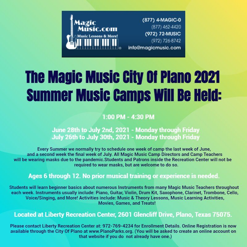 Magic Music City of Plano Summer Music Camps 1