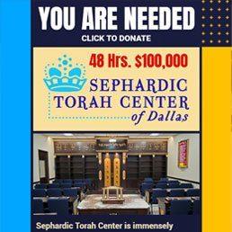 48 Hours, $100,000 for Sephardic Torah Center of Dallas