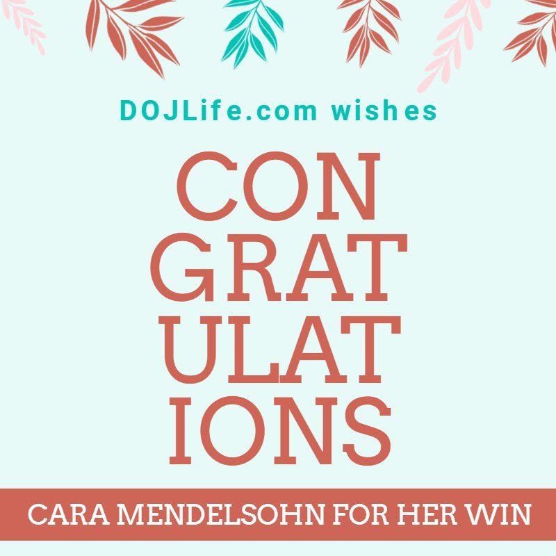 Congratulations to Cara Mendelsohn for Her Win 11