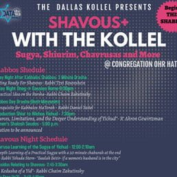 The Dallas Kollel Presents Shavuos+ with the Kollel 5