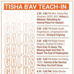 2021 Tisha B'Av Teach-In