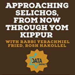 Dallas Kollel Presents Special Class This Motzei Shabbos: Approaching Selichos – Now Through Yom Kippur