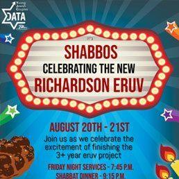 DATA of Richardson: Shabbos Celebrating the New Richardson Eruv