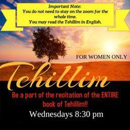 Women's Tehillim Group: Be a Part of the Recitation