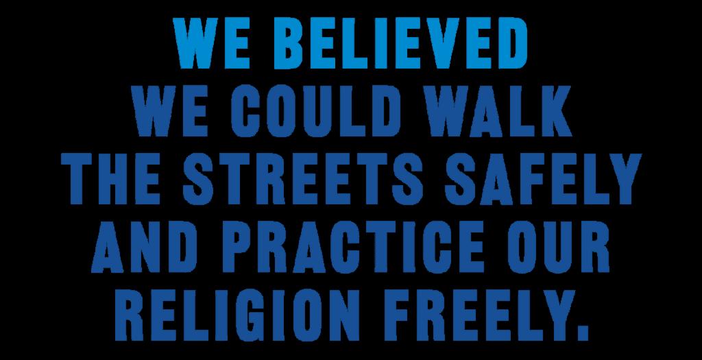 We Believed