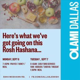 Olami Dallas: Here's What's Going On This Rosh Hashana